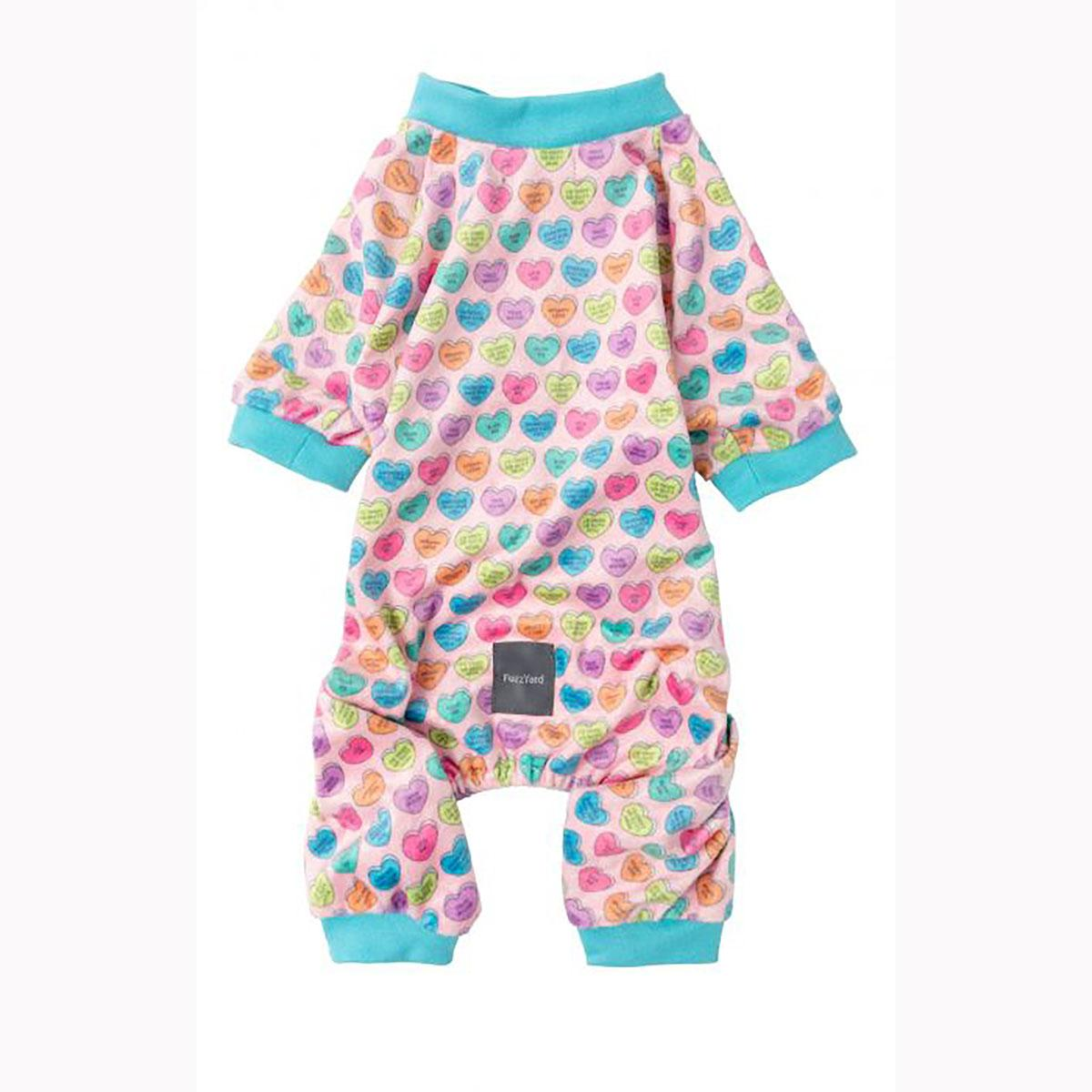 FuzzYard Candy Heart Dog Pajamas