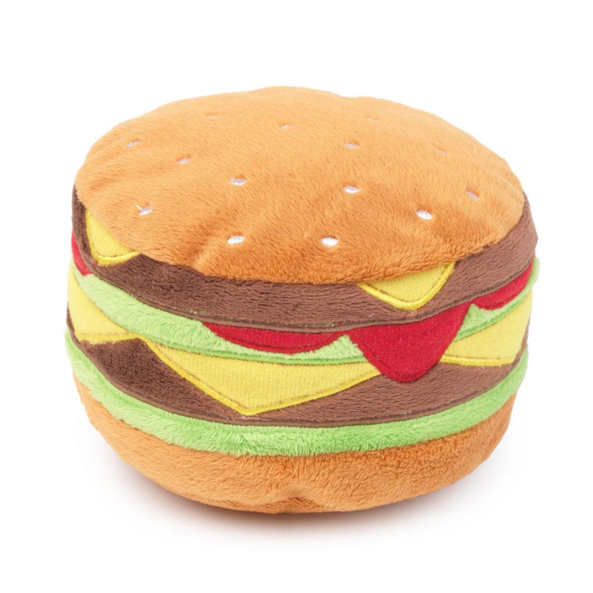 FuzzYard Hamburger Dog Toy