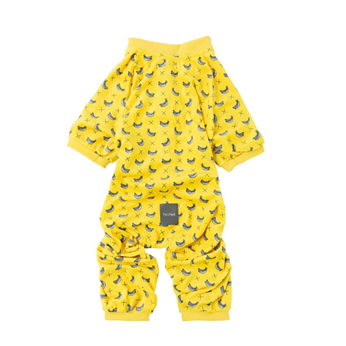 FuzzYard Monkey Mania (Bananas on Yellow) Dog Pajamas