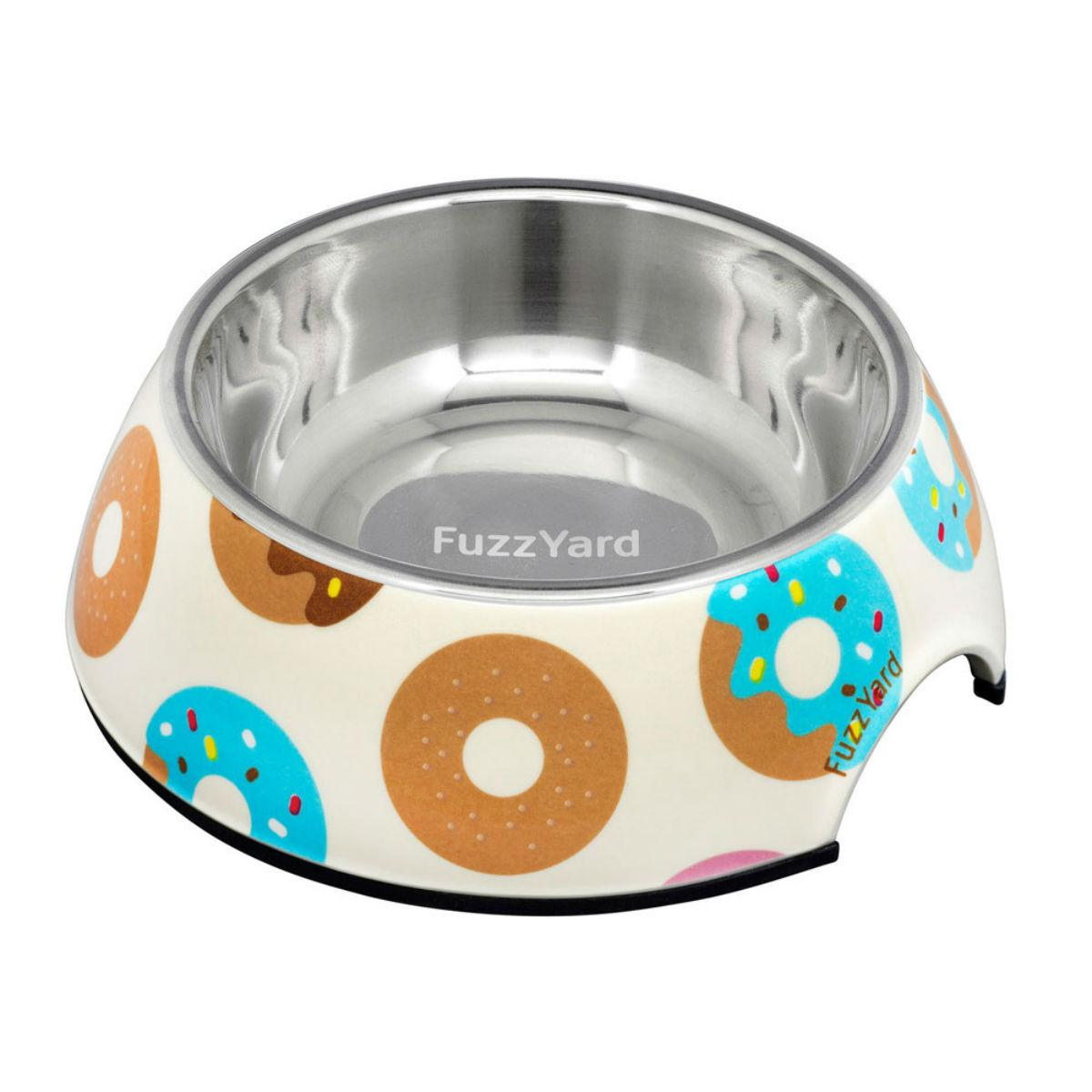 FuzzYard Go Nuts (Donuts) Easy Feeder Dog Bowl