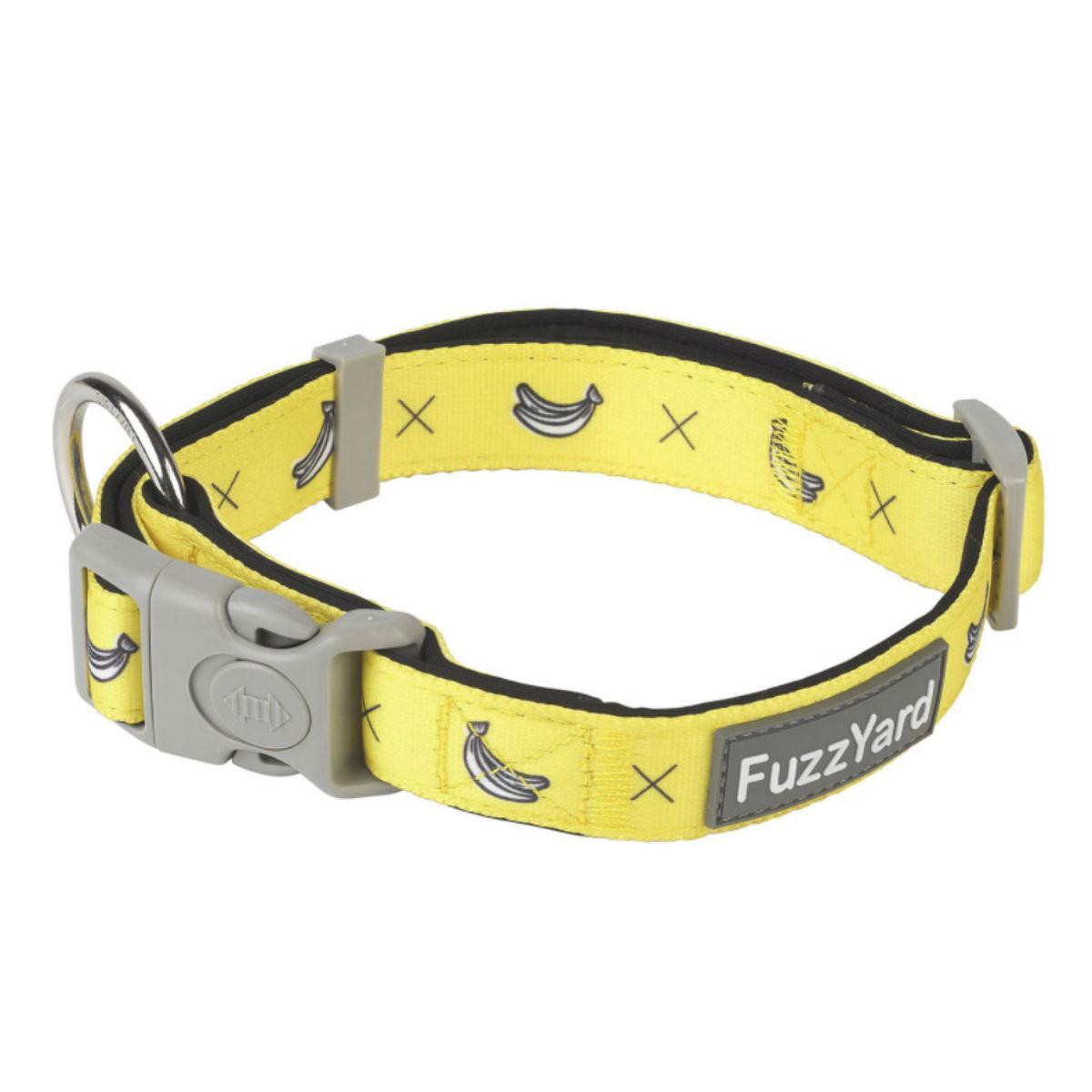 FuzzYard Monkey Mania (Bananas on Yellow) Dog Collar
