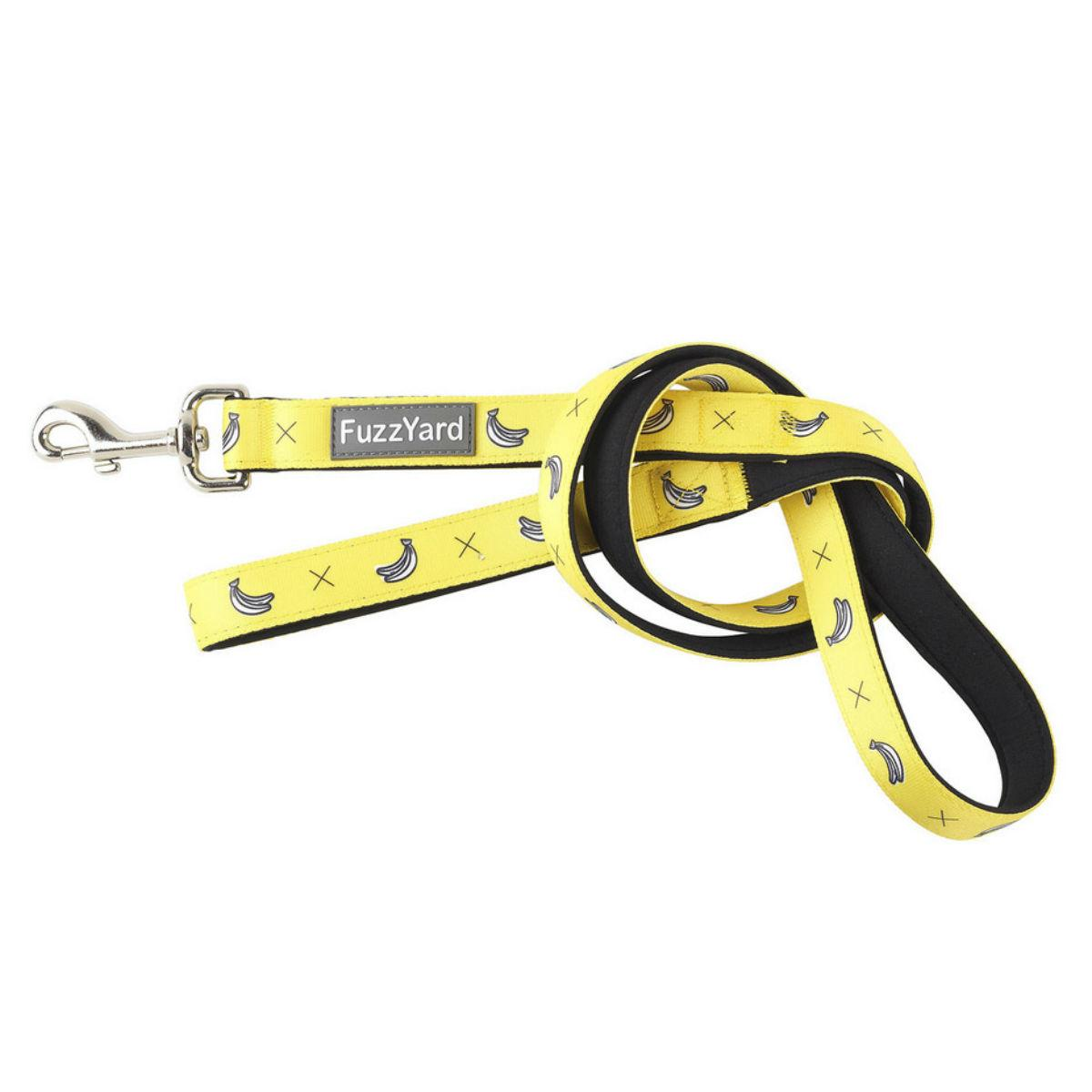 FuzzYard Monkey Mania (Bananas on Yellow) Dog Leash