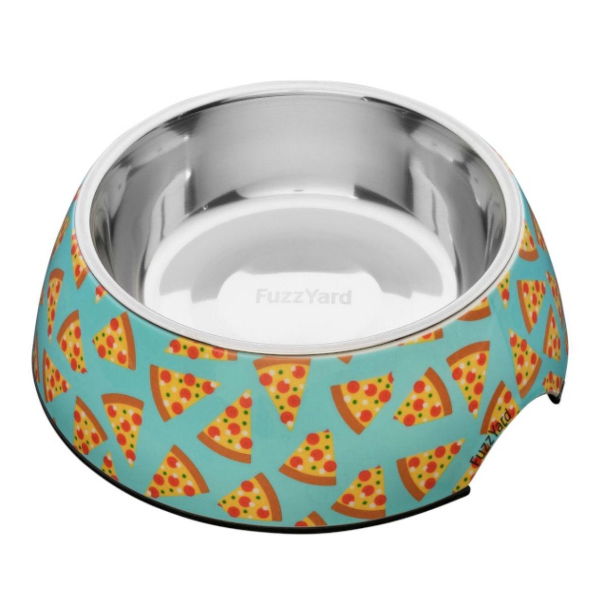 FuzzYard Pizza Easy Feeder Dog Bowl