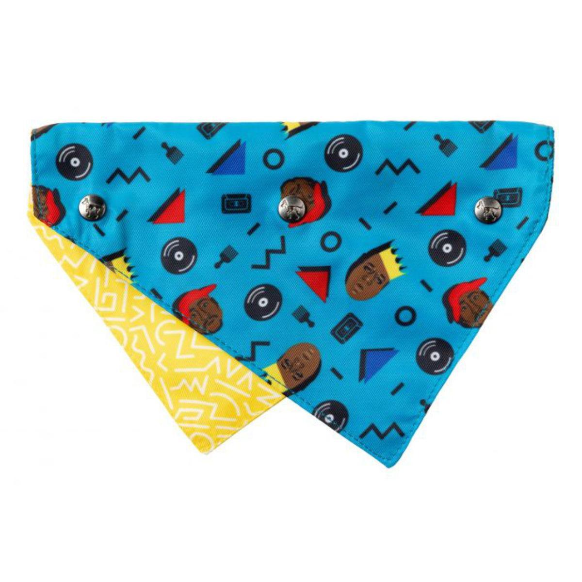 FuzzYard Kings of Gold School Reversible Dog Collar Bandana with Studs