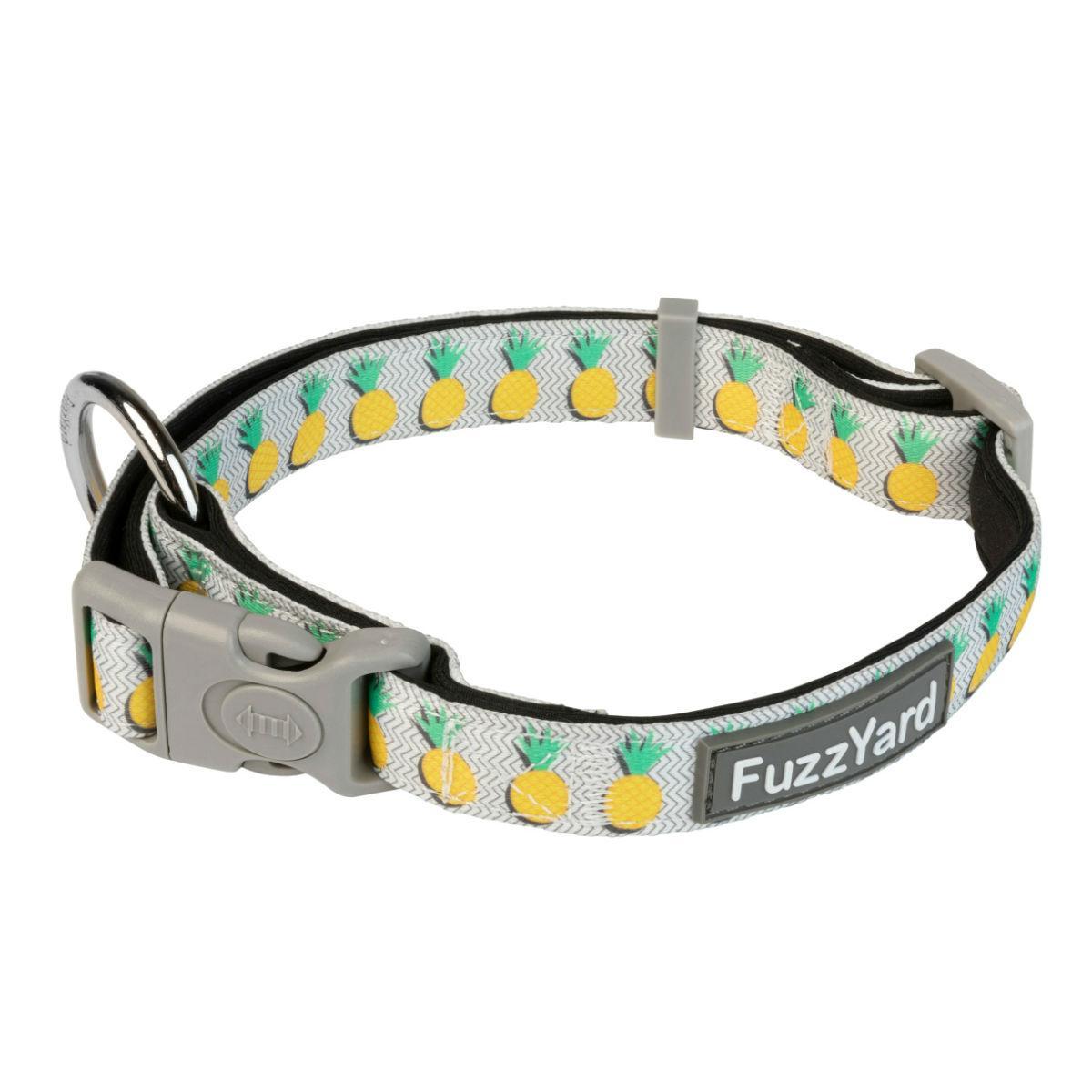 FuzzYard Pina Colada Dog Collar - Pineapples