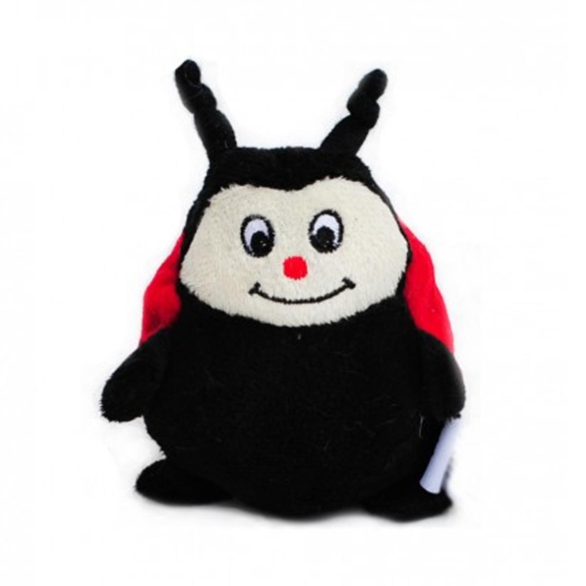 Plush Ladybug Dog Toy