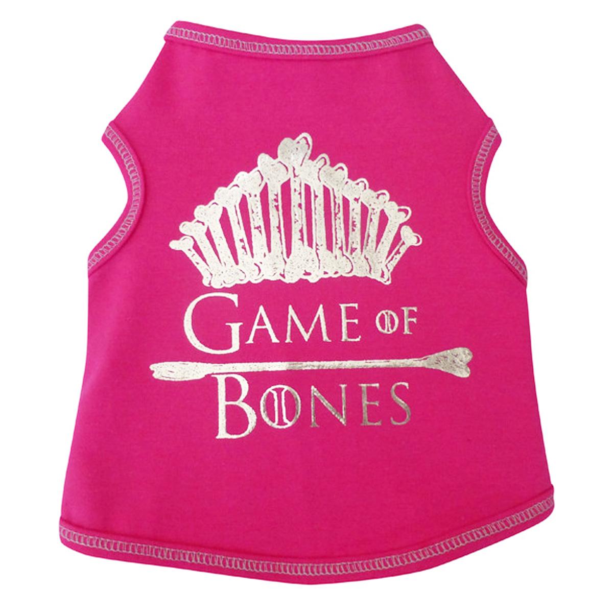 Game of Bones Dog Tank - Hot Pink