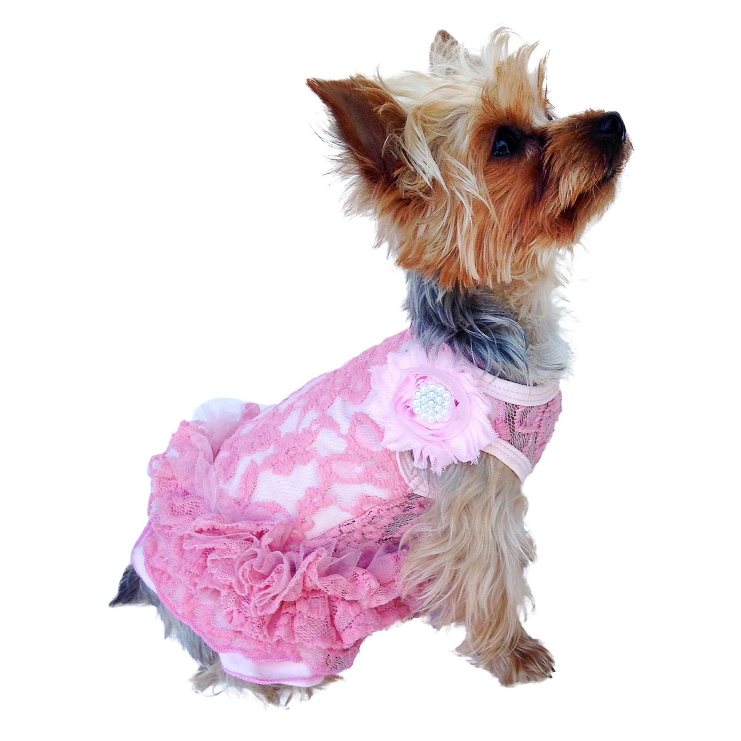 Garden Party Tutu Dog Dress by The Dog Squad - Pink
