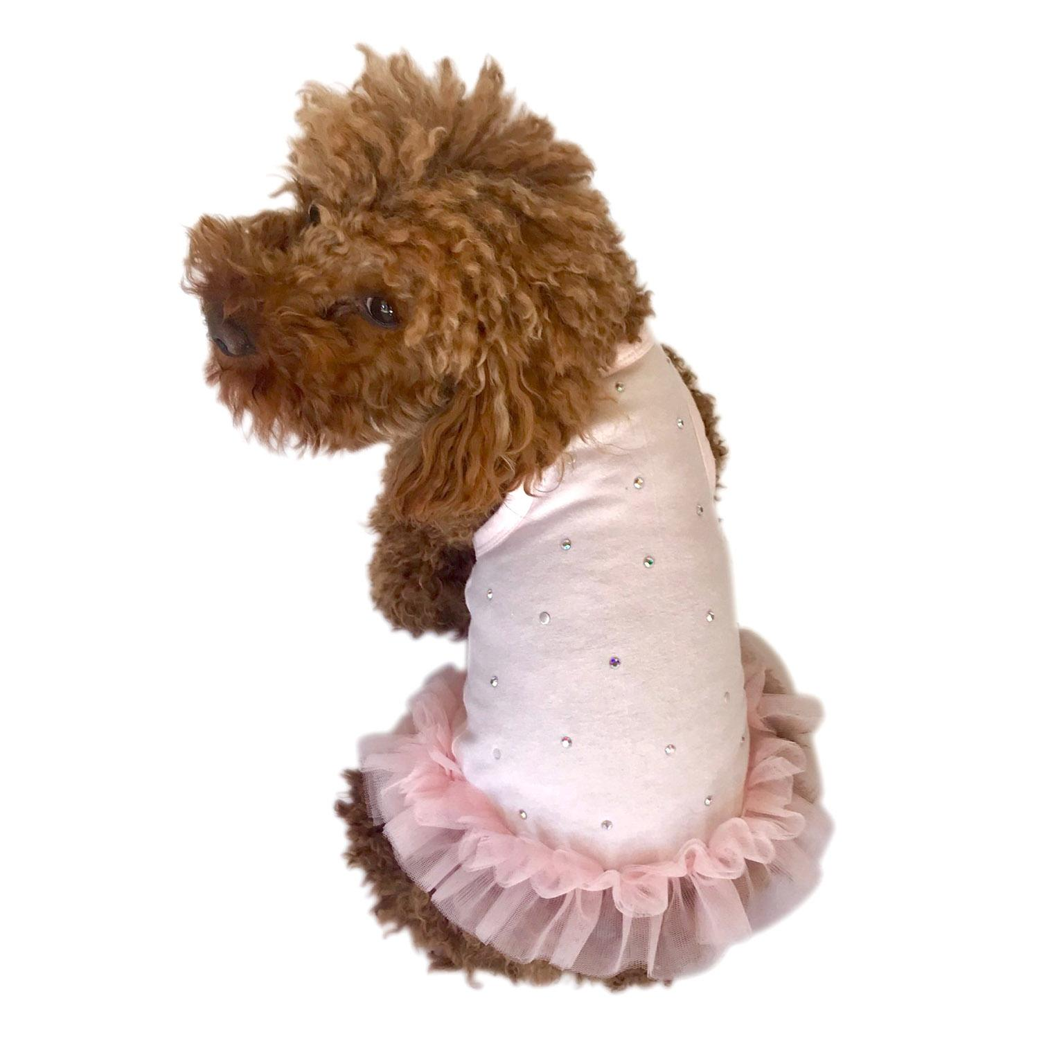 Pearly Girl Tutu Dog Dress by The Dog Squad - Light Pink