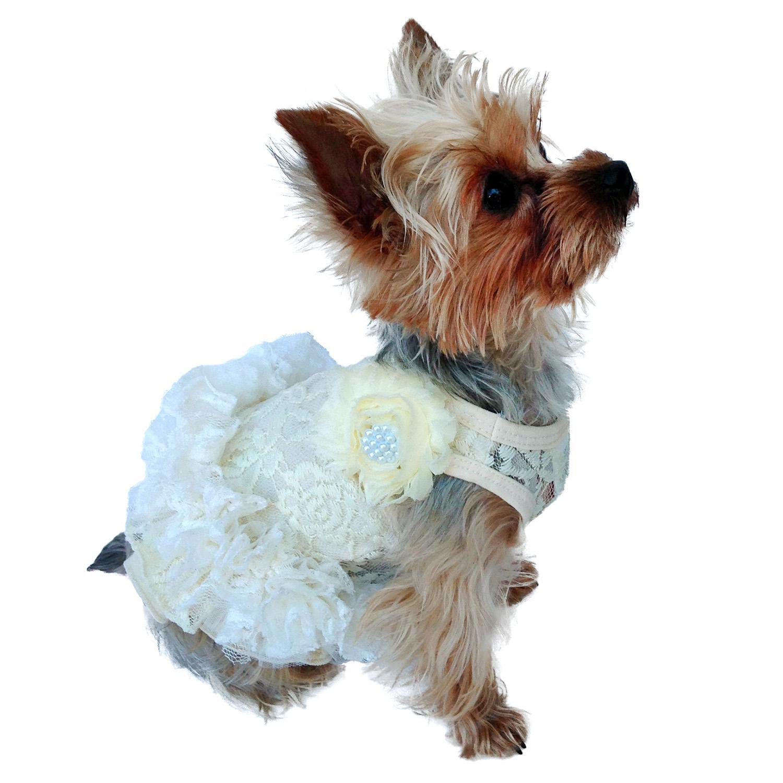 Garden Party Tutu Dog Dress by The Dog Squad - Ivory