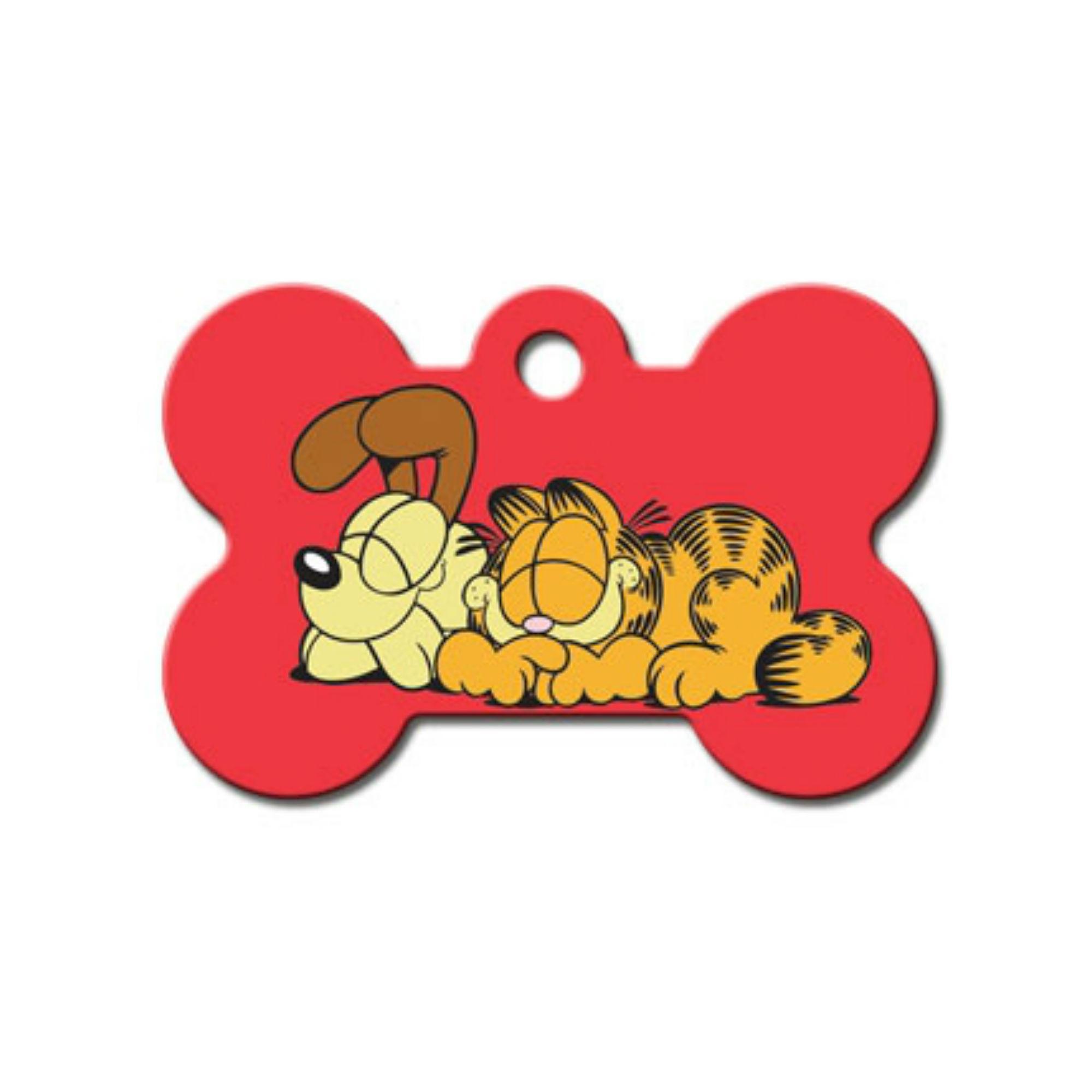 Garfield & Odie Bone Large Engravable Pet I.D. Tag