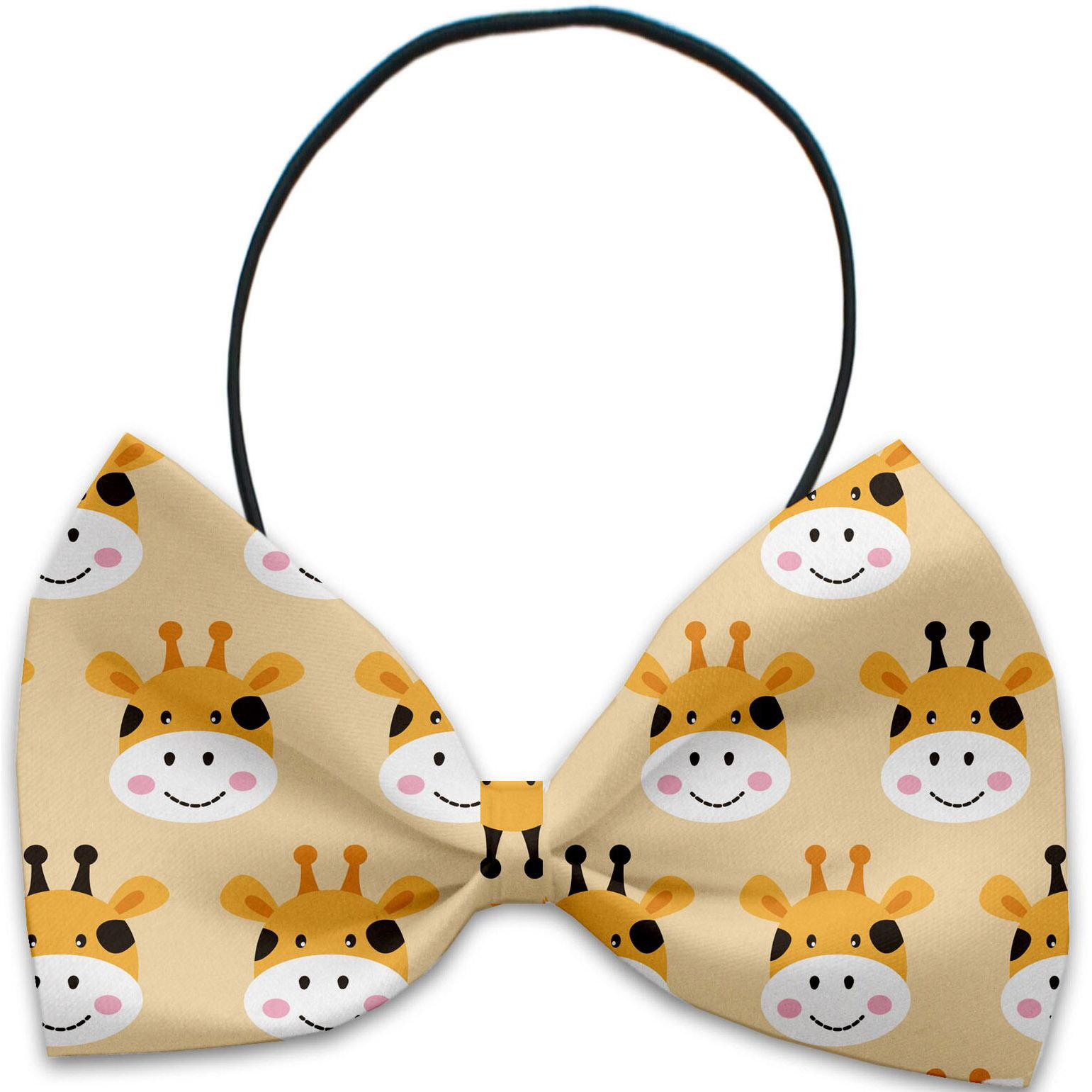 Georgie the Giraffe Dog Bow Tie