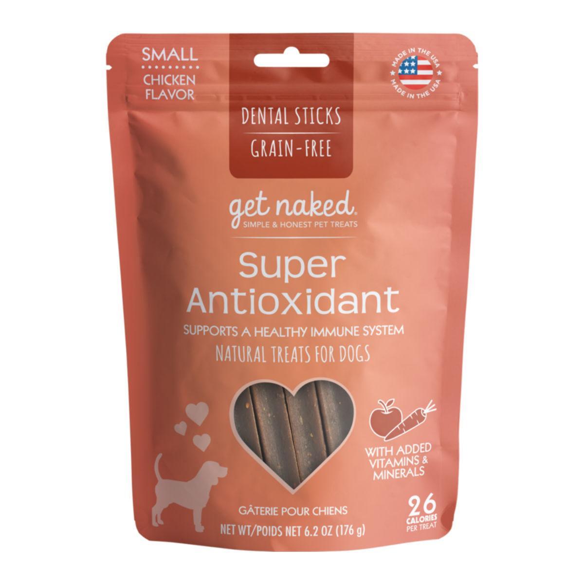 Get Naked Grain Free Dental Sticks Dog Treats - Super Antioxidant