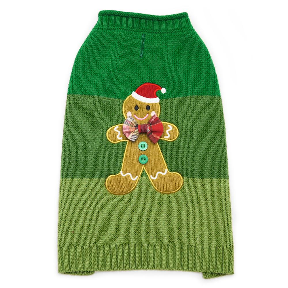 Gingerbread Man Dog Sweater by Dogo