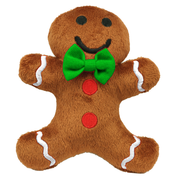 Gingerbread Man Plush Dog Toy By Hip Doggie Baxterboo