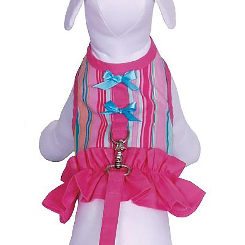 Tutti Fruiti Dog Harness Vest with Leash by Cha-Cha Couture