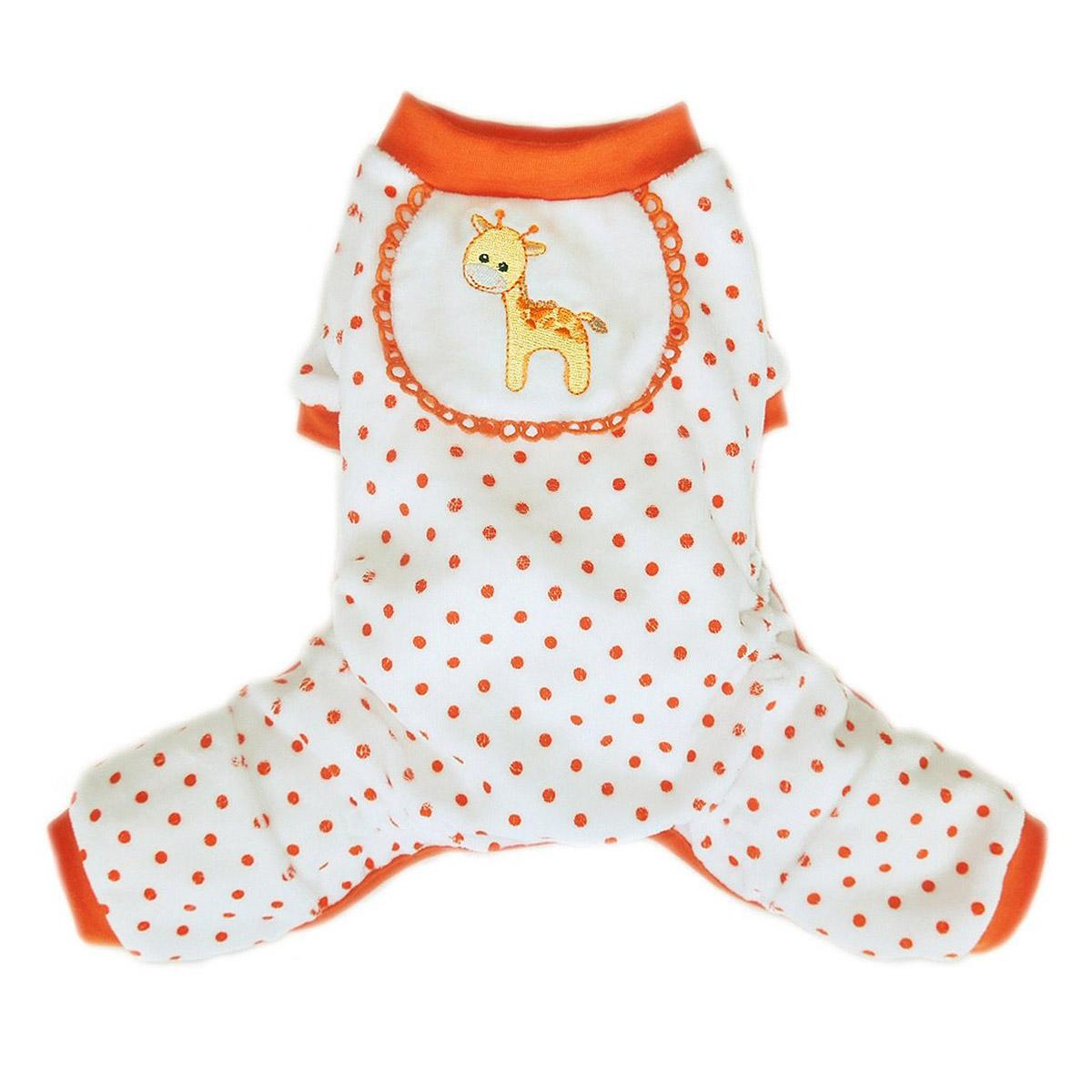 Giraffe Dog Pajamas - Orange