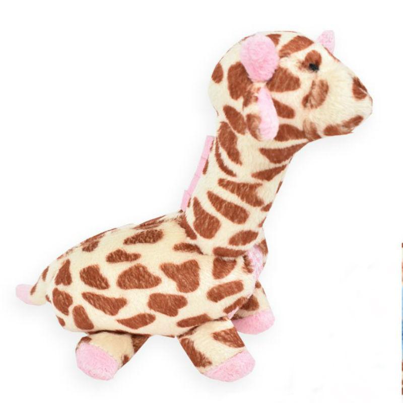 Giraffe Safari Baby Pipsqueak Dog Toy By Oscar Newman - Pink