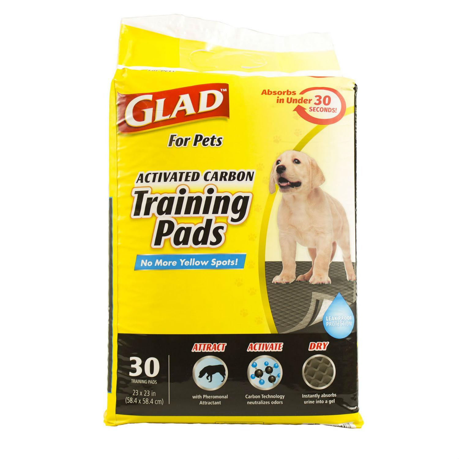 Glad Black Charcoal Training Puppy Pads