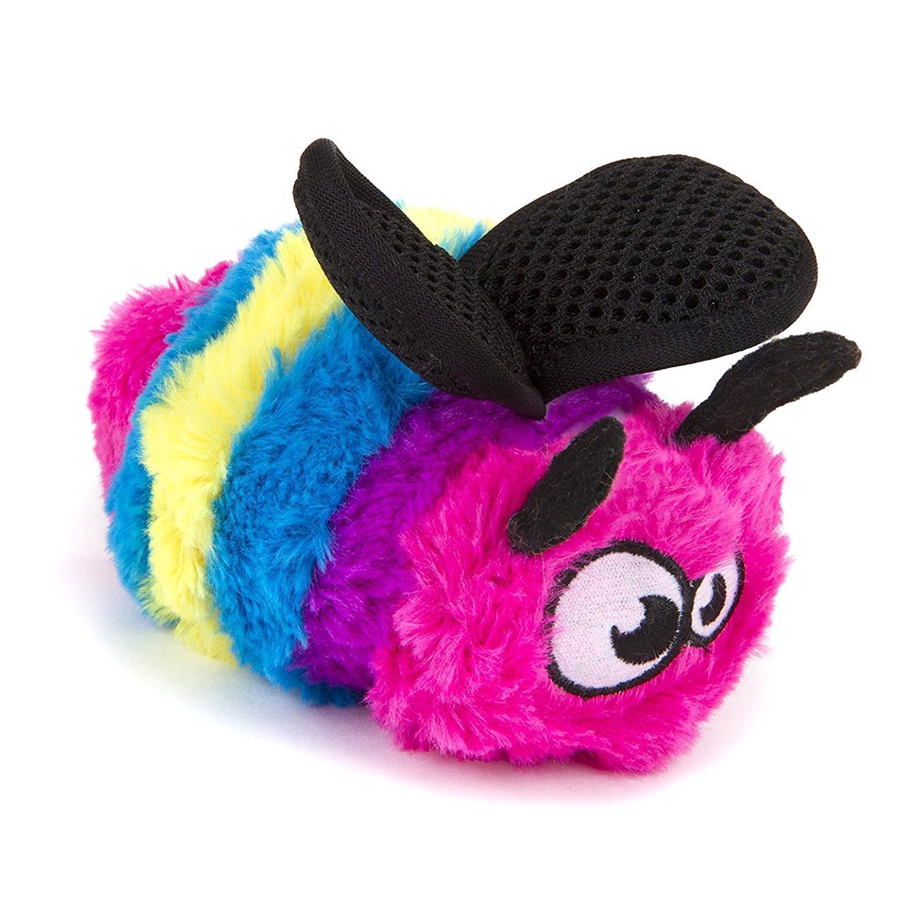 goDog Bugs Bee Tough Plush Dog Toy - Rainbow