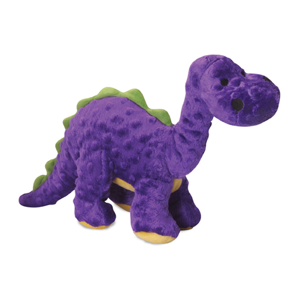 goDog Dino Bruto with Chew Guard Dog Toy - Purple