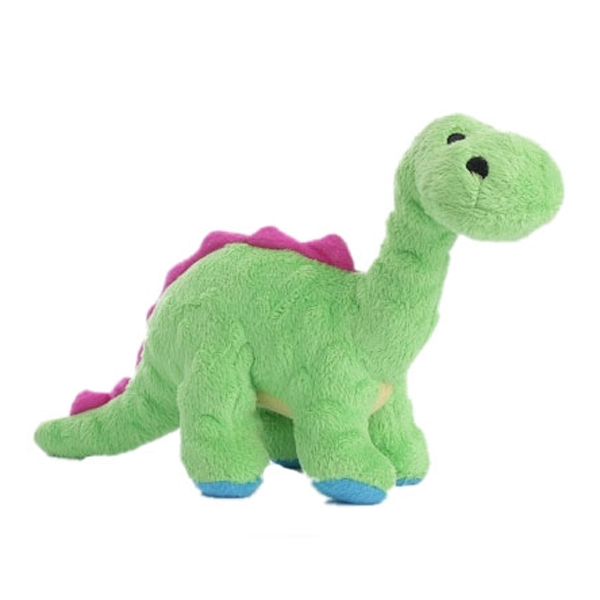 goDog Dino Bruto with Chew Guard Dog Toy - Green