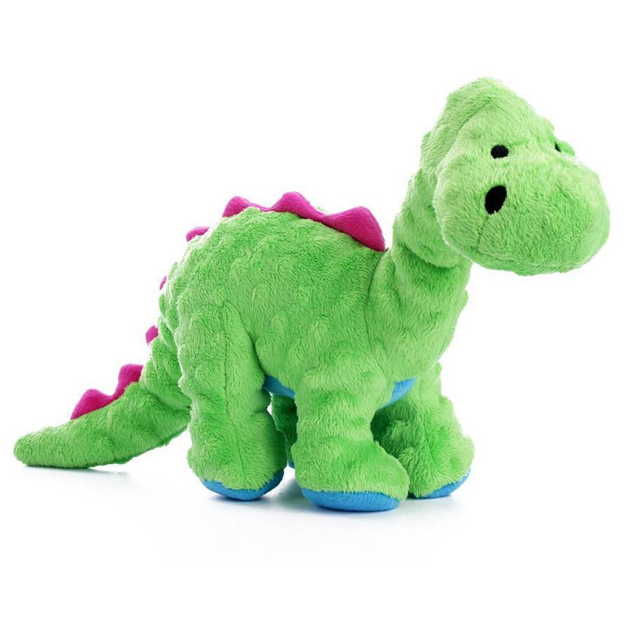 goDog Dino Bruto with Chew Guard Dog Toy - Green