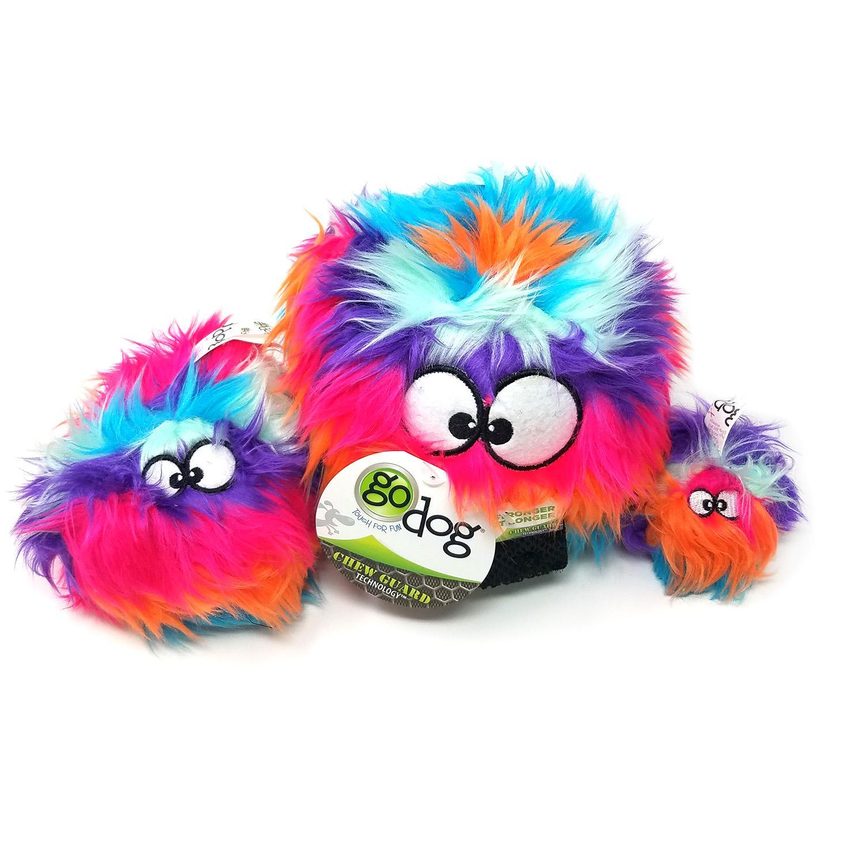 goDog Furballz Dog Toy - Cool Rainbow