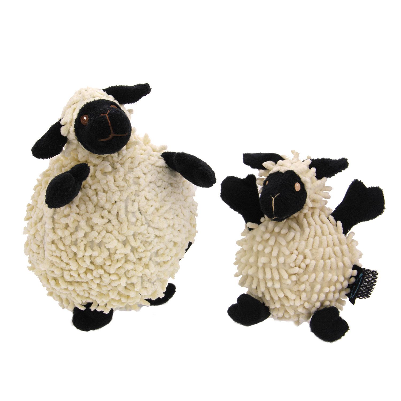 goDog Fuzzy Wuzzy Sheep Dog Toy - Black
