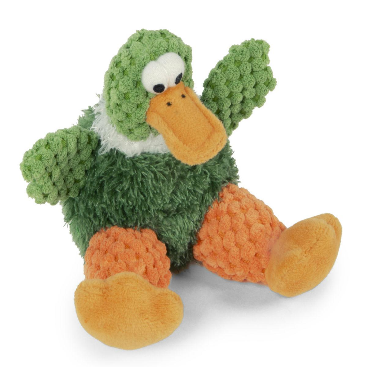 goDog Just for Me Checkers Sitting Dog Toy - Duck