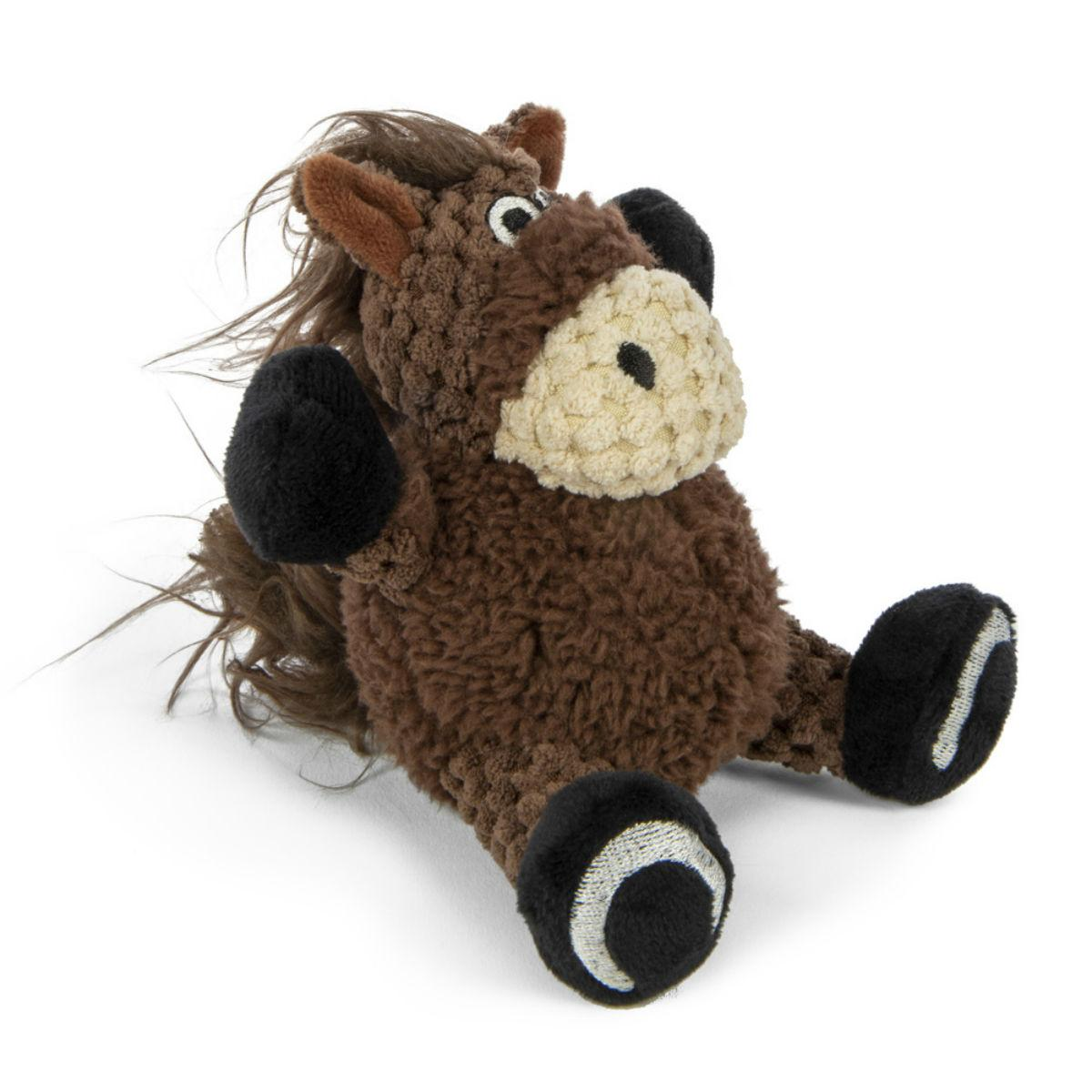 goDog Just for Me Checkers Sitting Dog Toy - Horse