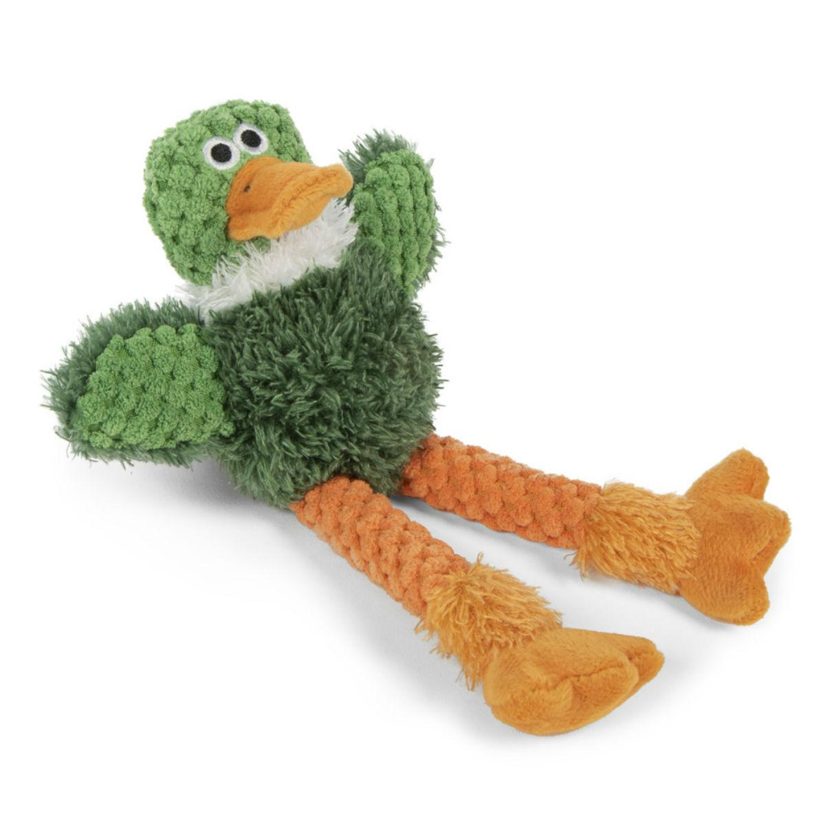 goDog Just for Me Checkers Skinny Dog Toy - Duck