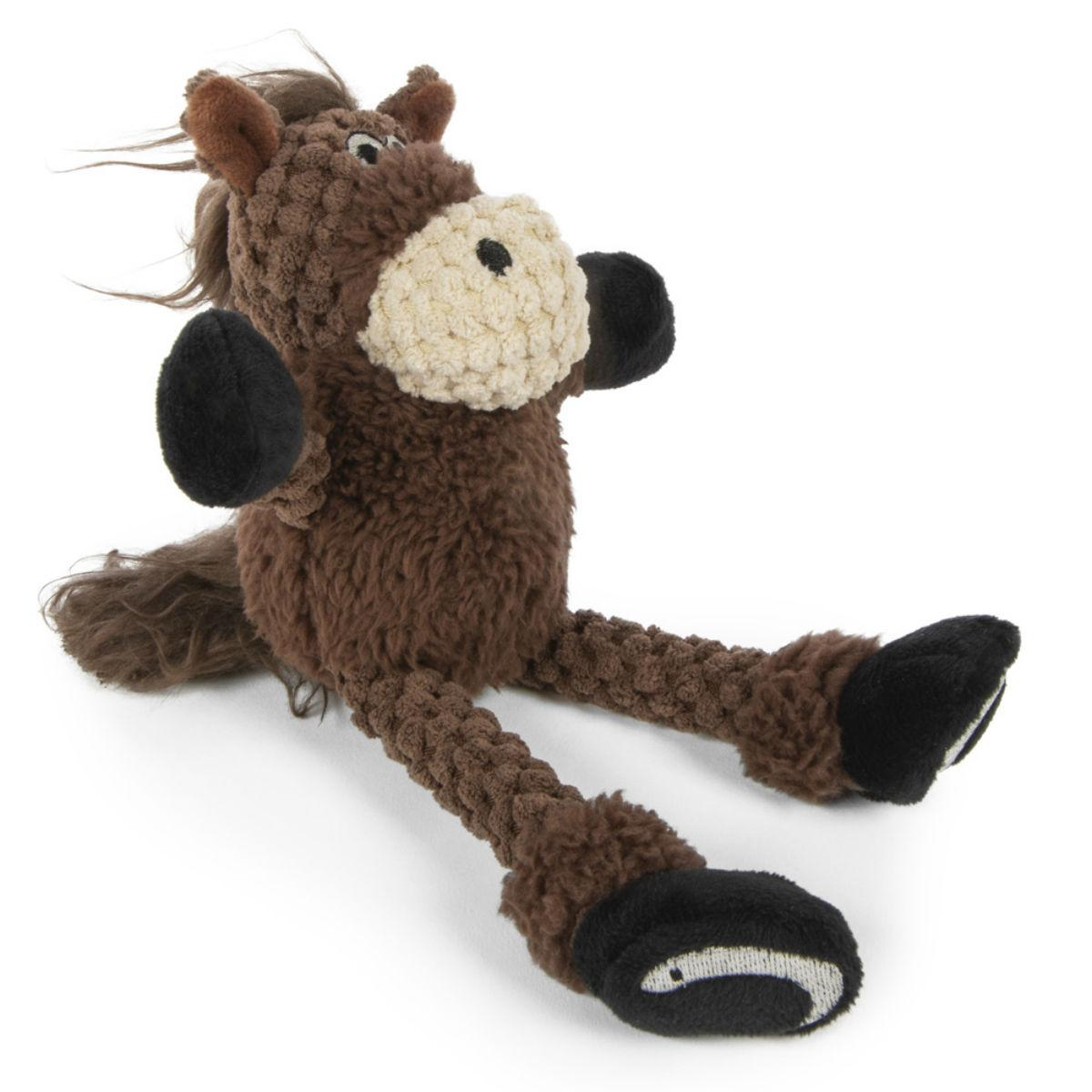 goDog Just for Me Checkers Skinny Dog Toy - Horse