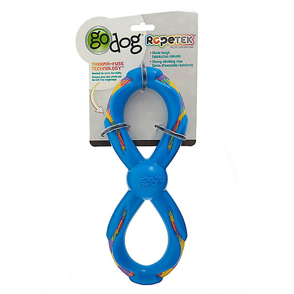 goDog RopeTek Figure 8 Rope Tough Dog Toy - Blue