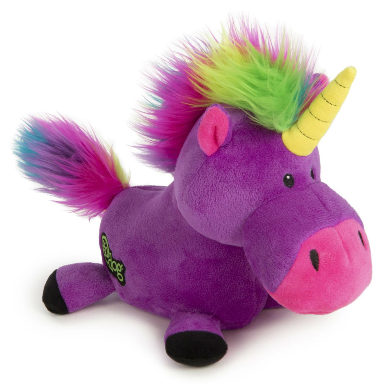 goDog Unicorn Plush Dog Toy - Purple