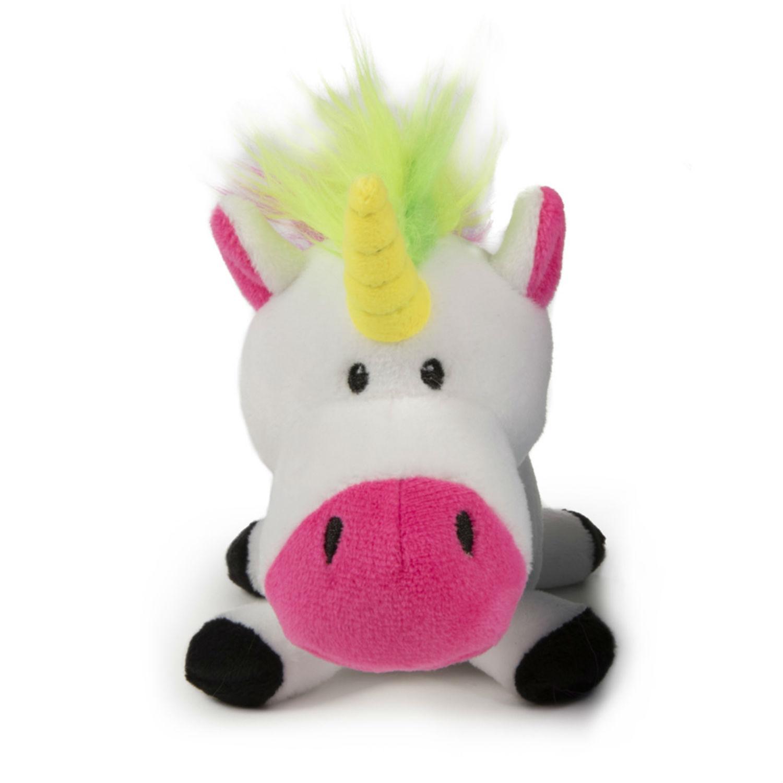 goDog Unicorn Plush Dog Toy - White