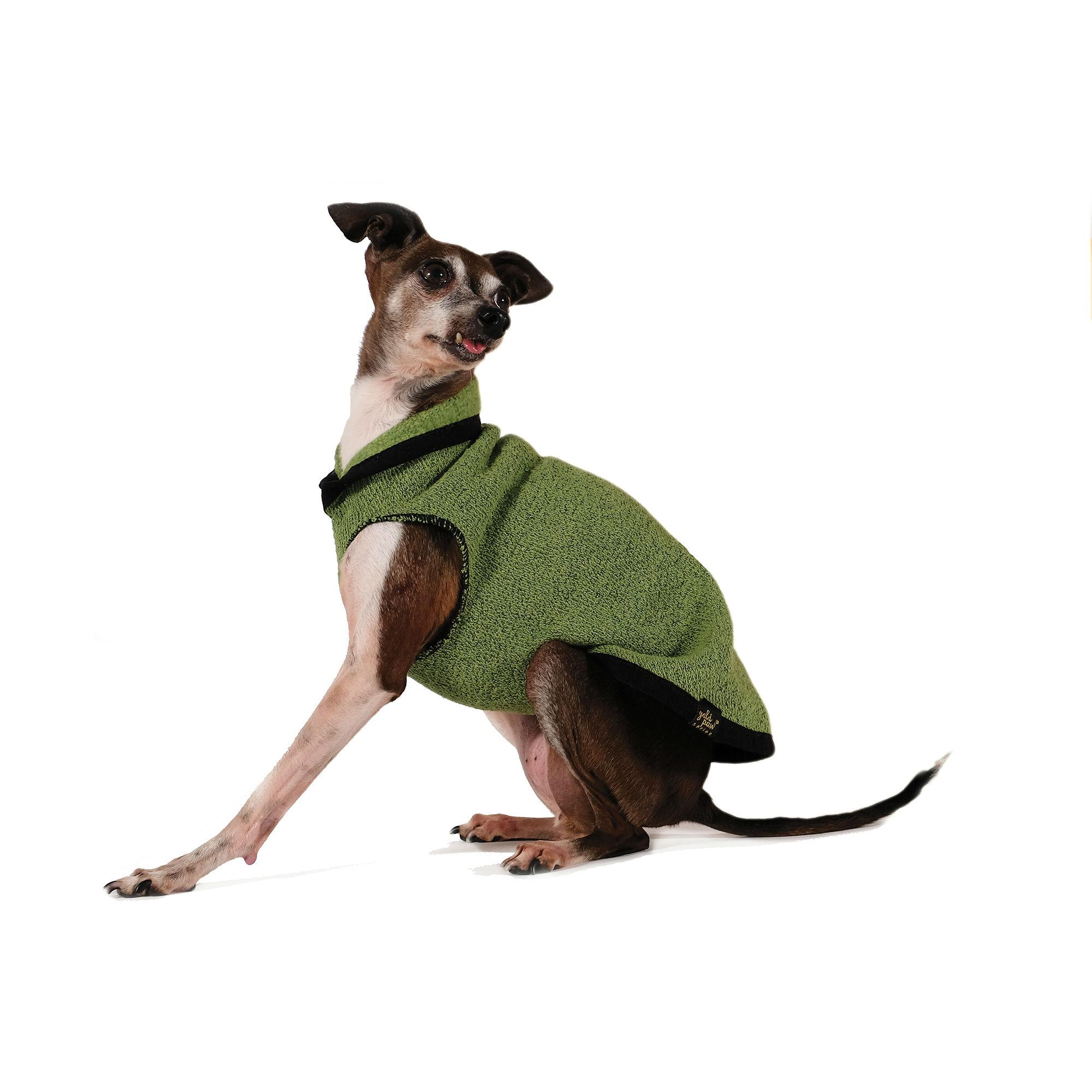 Gold Paw EcoFleece Dog Pullover - Leaf Green