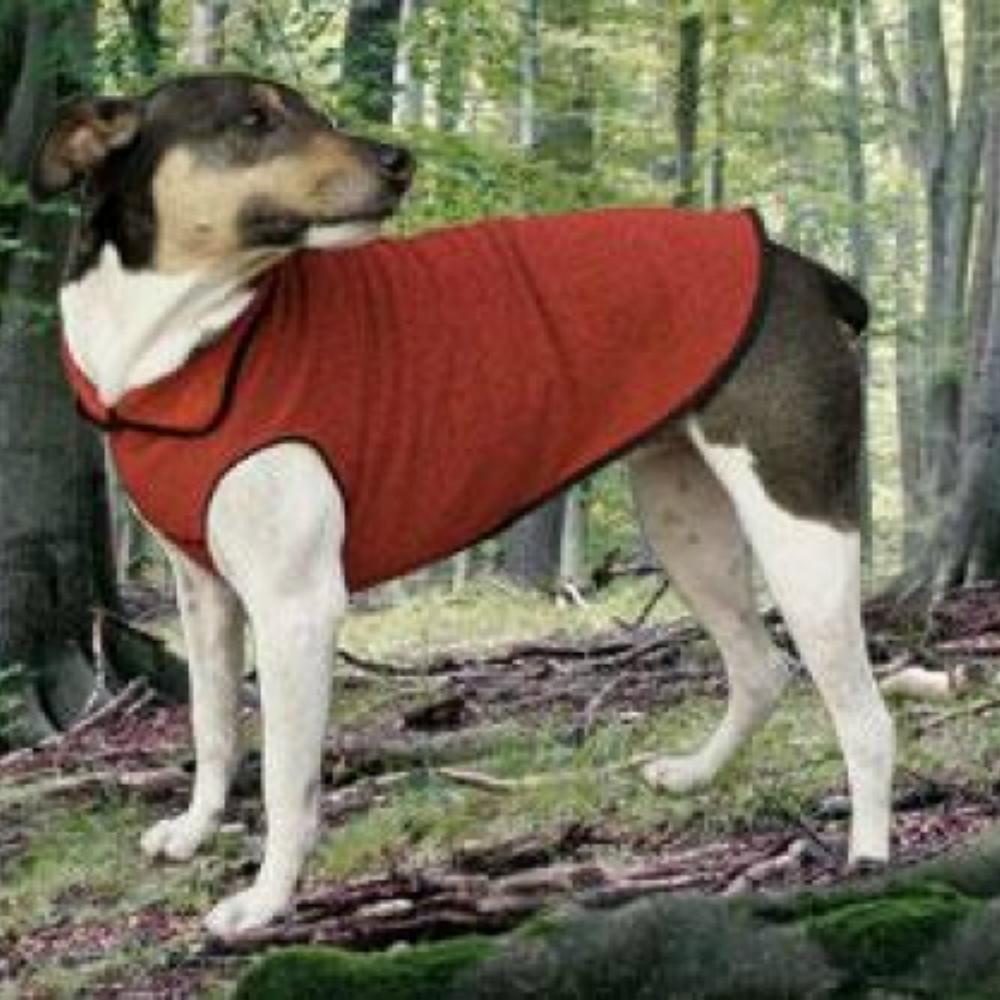 Gold Paw EcoFleece Dog Pullover - Ruby Red