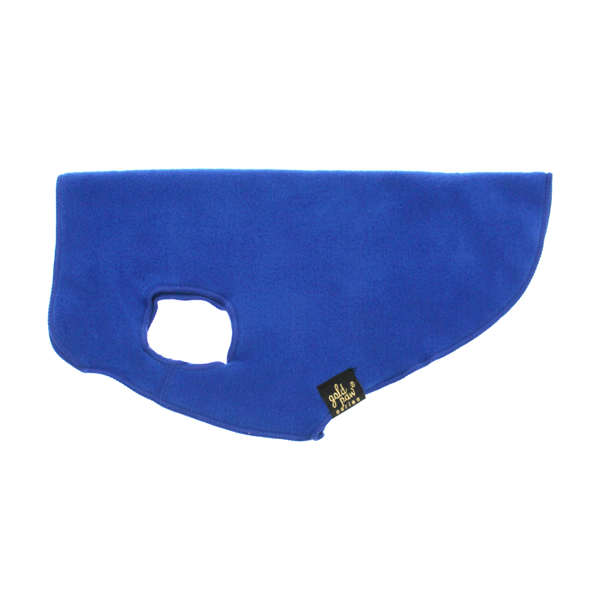 Gold Paw Fleece Dog Jacket - Cobalt Blue
