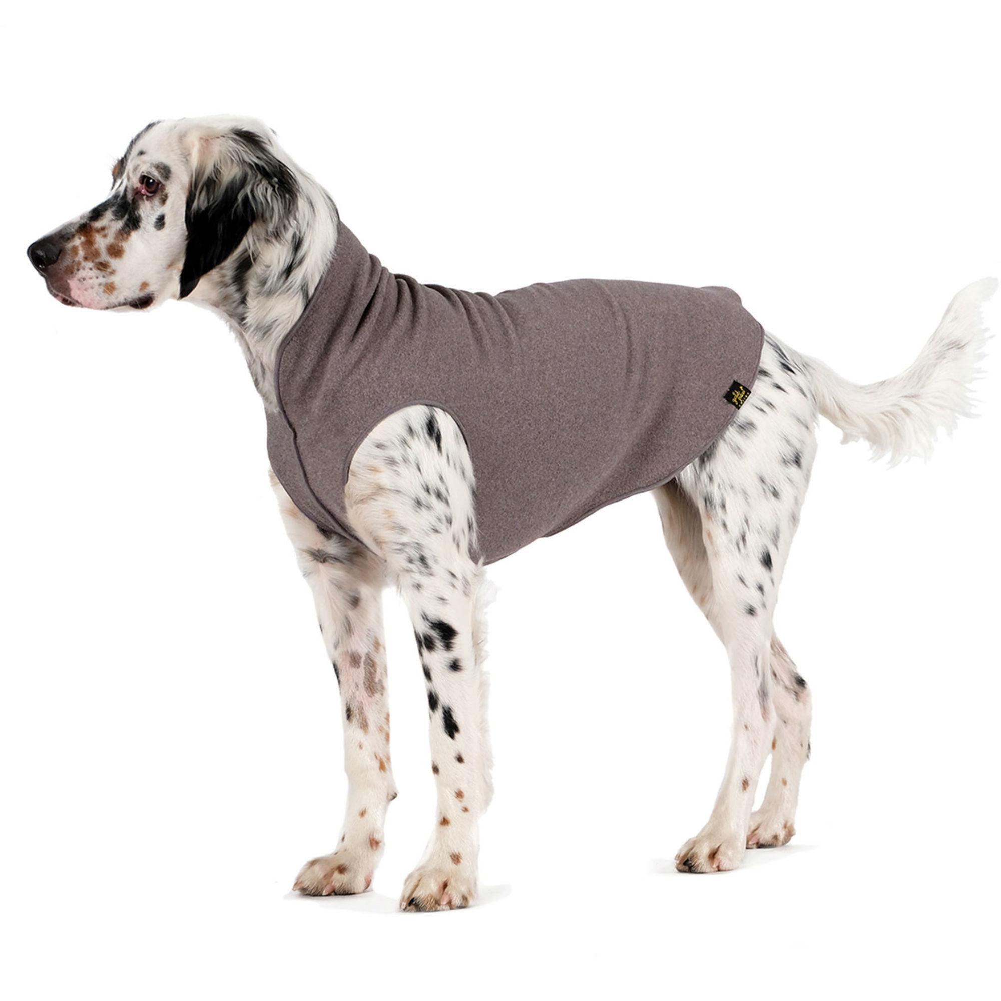 Gold Paw Fleece Dog Jacket - Charcoal Grey