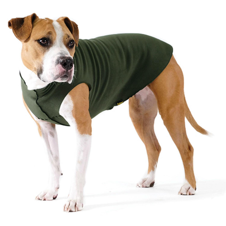 Gold Paw Fleece Dog Jacket - Hunter Green