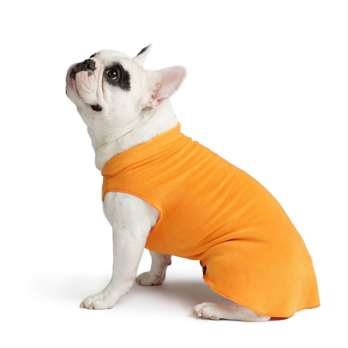 Gold Paw Fleece Dog Jacket - Pumpkin Orange