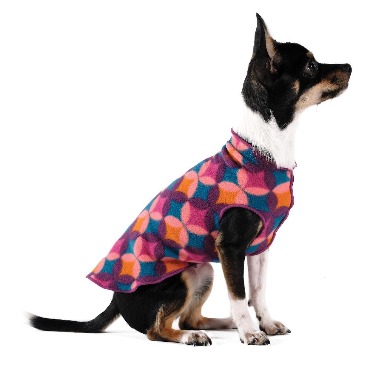 Gold Paw Fleece Dog Jacket - Summer Mod