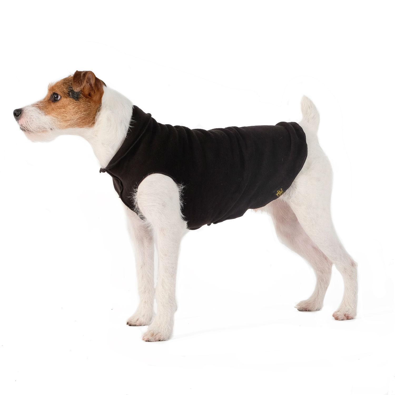 Gold Paw Reversible Double Fleece Dog Jacket - Double Black