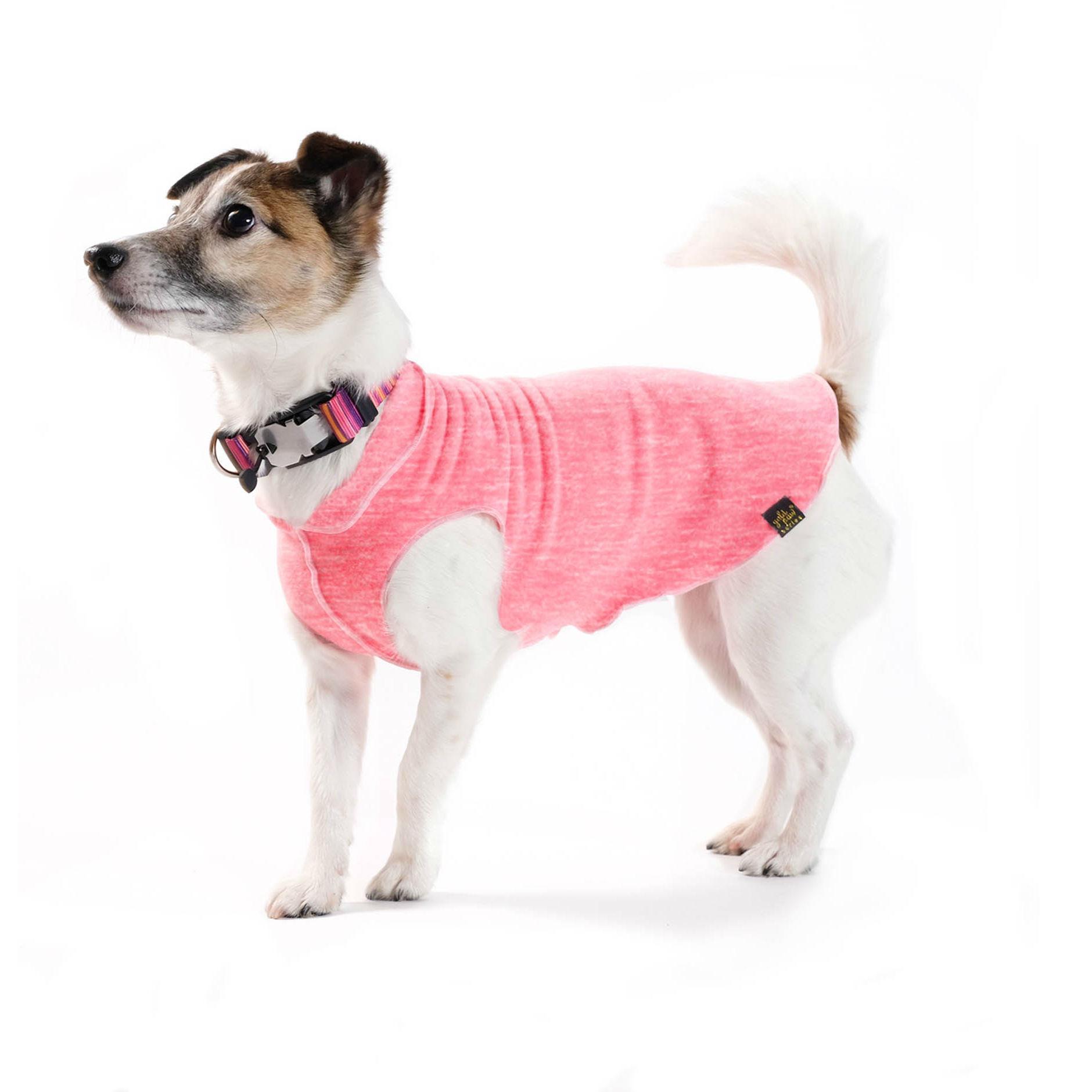 Gold Paw Sun Shield Dog Shirt - Coral