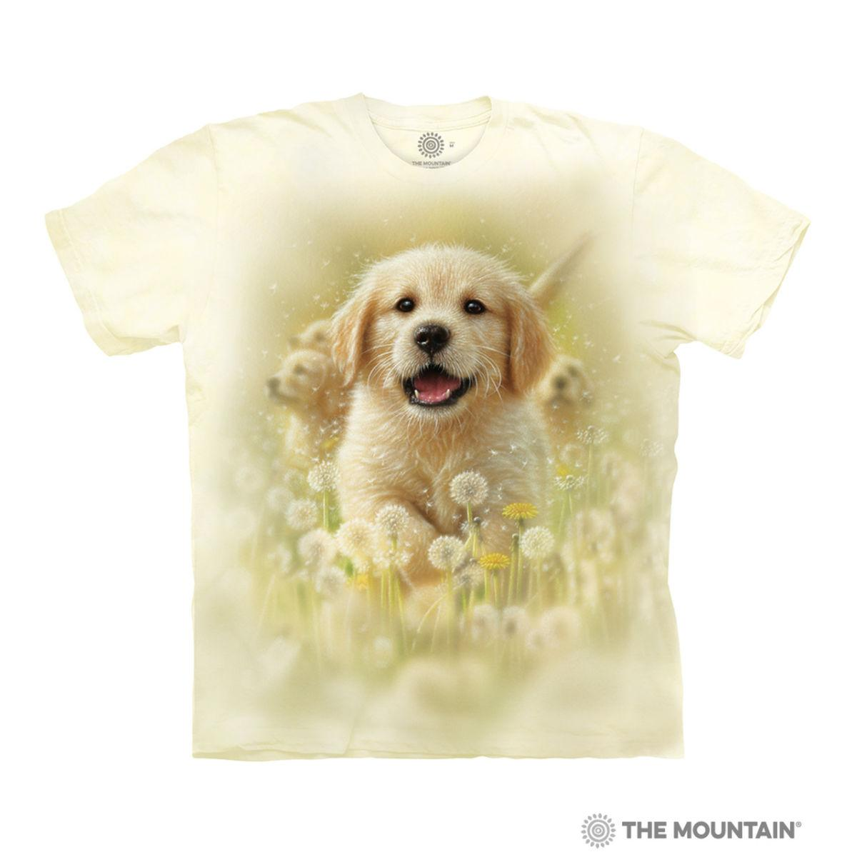 Golden Puppy Human T-Shirt by The Mountain