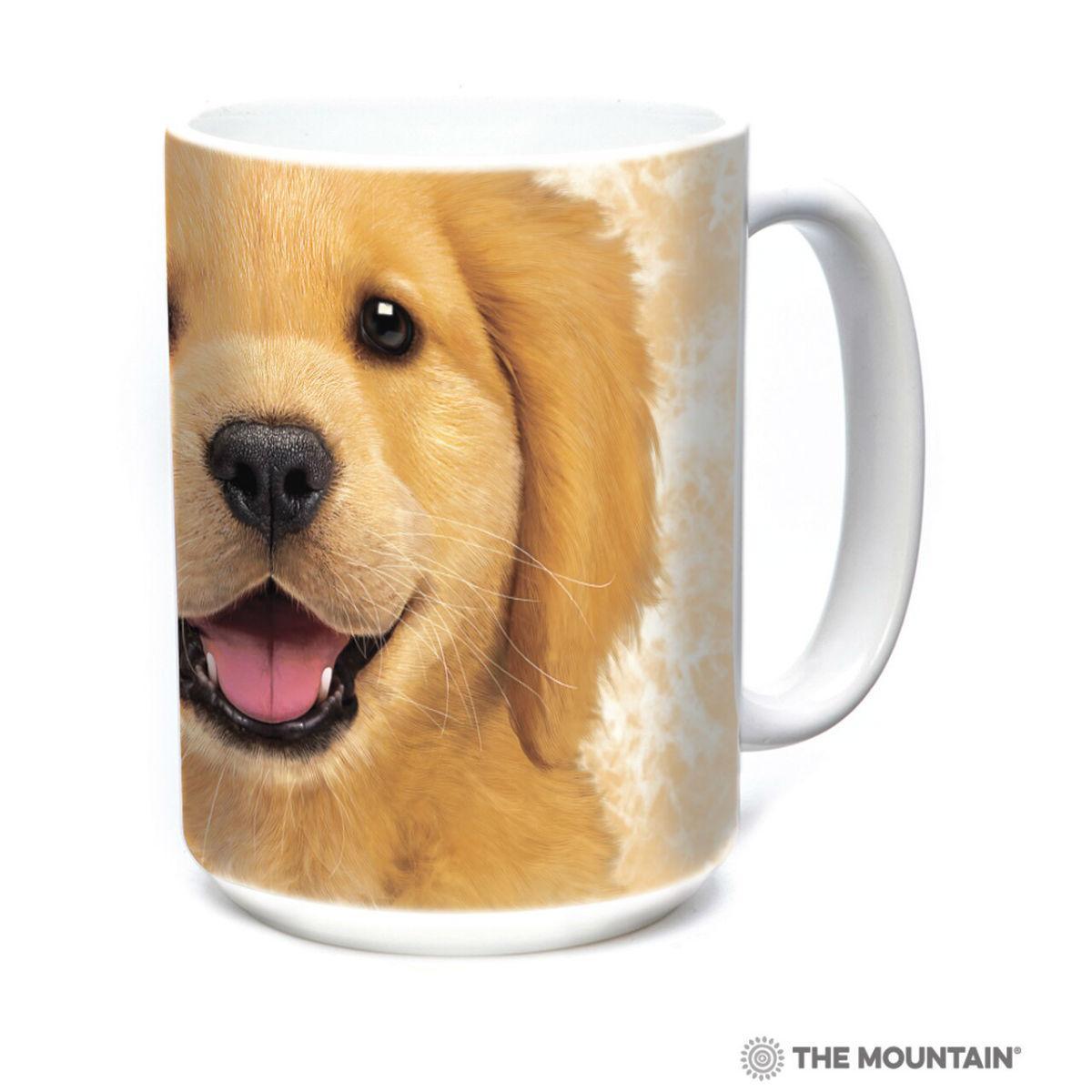 Golden Retriever Puppy Ceramic Mug by The Mountain