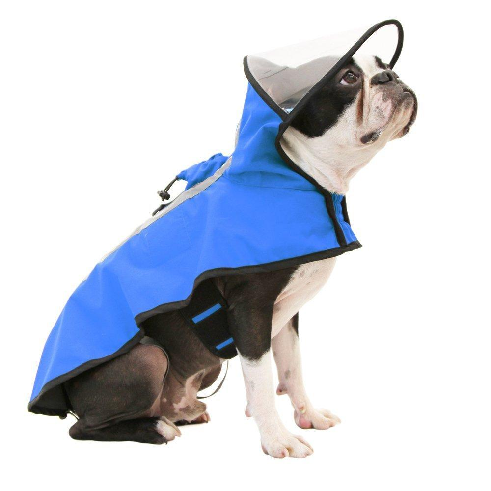 Gooby Adjustable Dog Raincoat - Blue