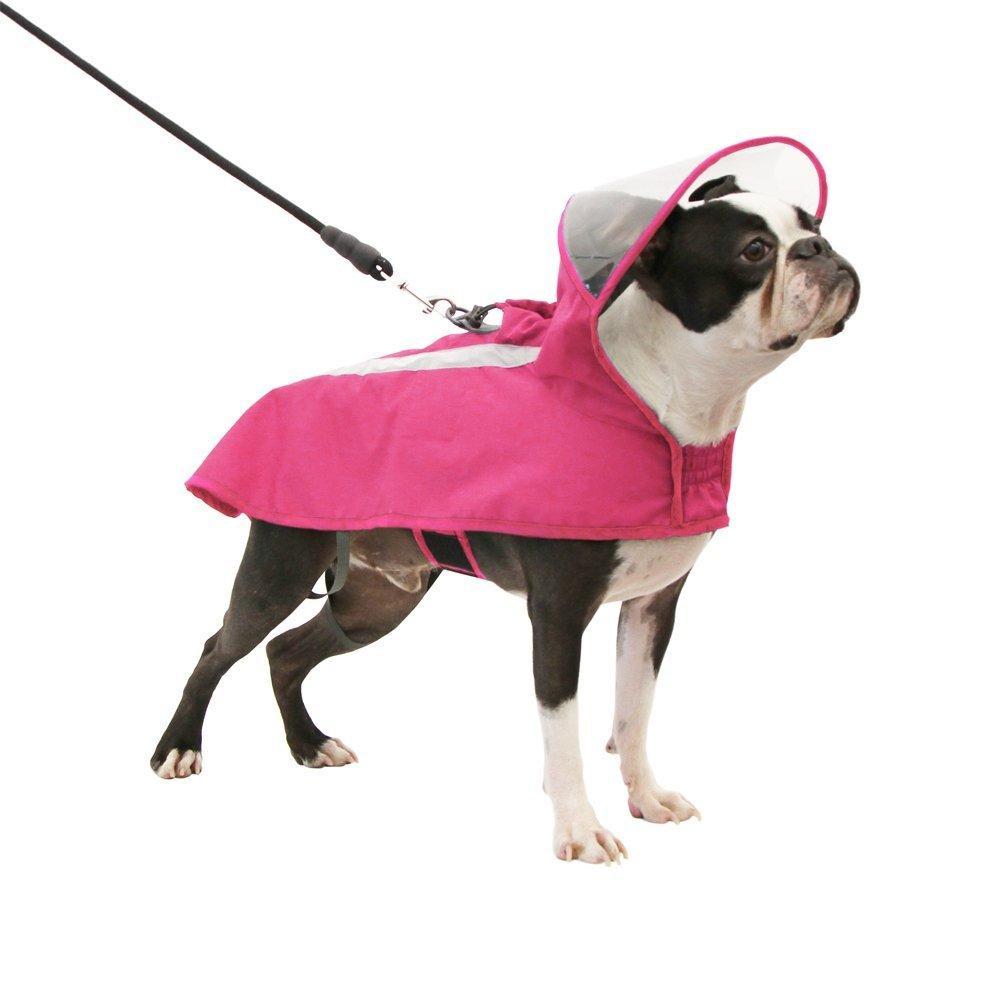 Gooby Adjustable Dog Raincoat - Pink