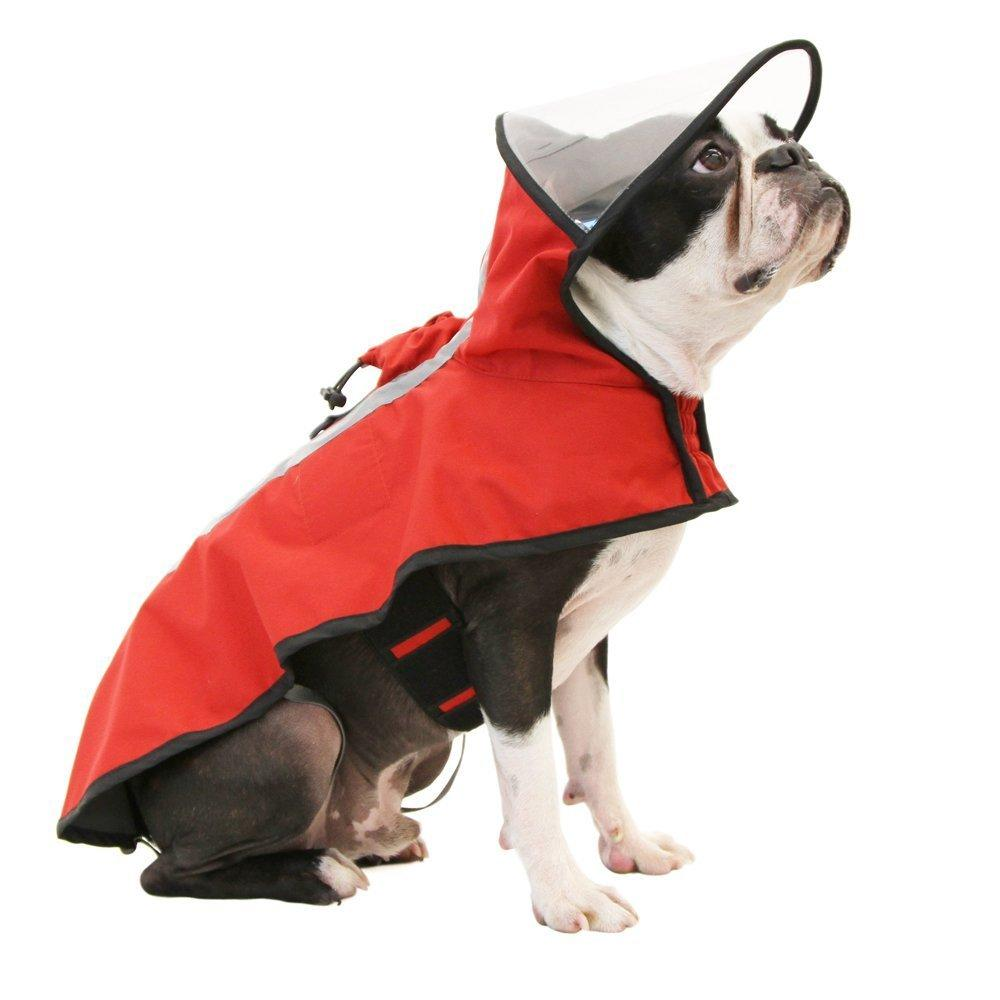 Gooby Adjustable Dog Raincoat - Red
